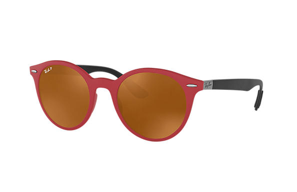 Ray-Ban  prescription sunglasses RB4296 UNISEX P002 rb4296 red RX_8053672904772?roxLensPartNumber=Brown_Classic_B 15_Polar_SV