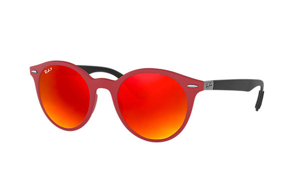 Ray-Ban  prescription sunglasses RB4296 UNISEX P002 rb4296 red RX_8053672904772?roxLensPartNumber=Orange_Flash_Polar_SV