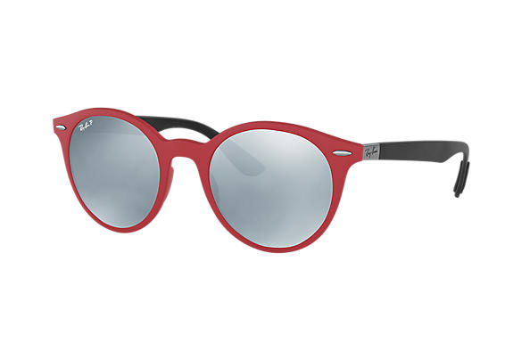 Ray-Ban  prescription sunglasses RB4296 UNISEX P002 rb4296 red RX_8053672904772?roxLensPartNumber=Silver_Flash_Polar_SV