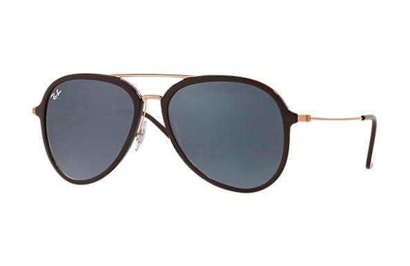 Ray-Ban  prescription sunglasses RB4298 UNISEX P001 rb4298 brown RX_8053672876727?roxLensPartNumber=Blue_Gray_Classic_SV