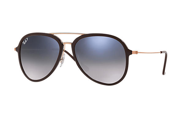 Ray-Ban  prescription sunglasses RB4298 UNISEX P001 rb4298 brown RX_8053672876727?roxLensPartNumber=Blue_Grey_Gradient_Polar_SV
