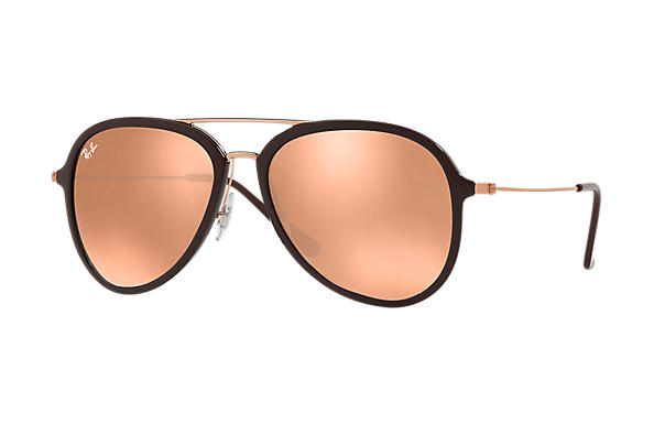 Ray-Ban  prescription sunglasses RB4298 UNISEX P001 rb4298 brown RX_8053672876727?roxLensPartNumber=Copper_Flash_SV