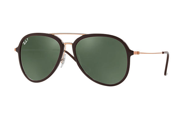 Ray-Ban  prescription sunglasses RB4298 UNISEX P001 rb4298 brown RX_8053672876727?roxLensPartNumber=Green_Classic_G 15_Polar_SV