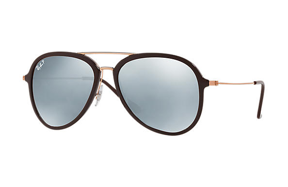 Ray-Ban  prescription sunglasses RB4298 UNISEX P001 rb4298 brown RX_8053672876727?roxLensPartNumber=Silver_Flash_Polar_SV