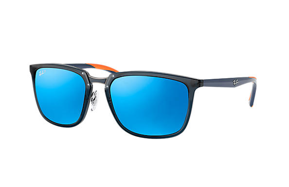 Ray-Ban  prescription sunglasses RB4303 MALE P001 rb4303 blue RX_8053672919929?roxLensPartNumber=Blue_Flash_Polar_SV