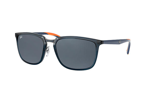 Ray-Ban  prescription sunglasses RB4303 MALE P001 rb4303 blue RX_8053672919929?roxLensPartNumber=Blue_Gray_Classic_SV