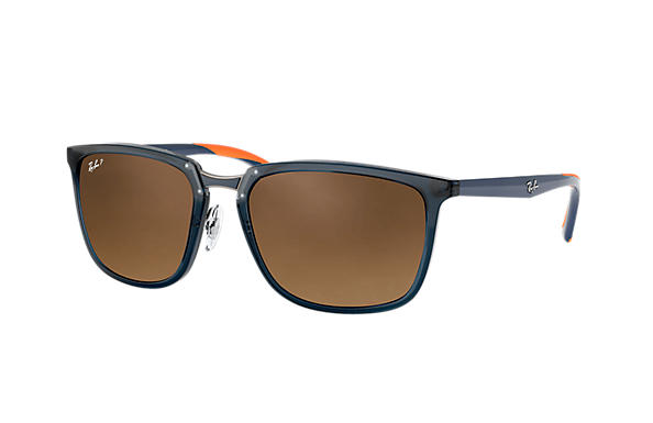 Ray-Ban  prescription sunglasses RB4303 MALE P001 rb4303 blue RX_8053672919929?roxLensPartNumber=Brown_Gradient_Polar_SV