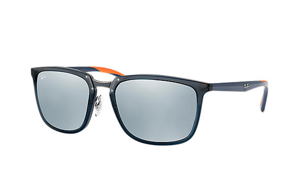 Ray-Ban  prescription sunglasses RB4303 MALE P001 rb4303 blue RX_8053672919929?roxLensPartNumber=Silver_Flash_Polar_SV