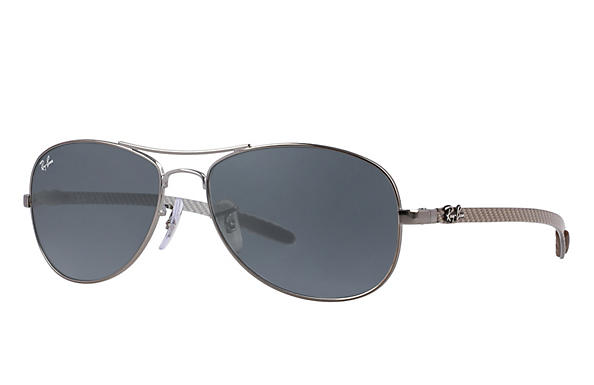 Ray-Ban  prescription sunglasses RB8301 MALE P019 rb8301 gunmetal RX_805289303954?roxLensPartNumber=Blue_Gray_Classic_SV