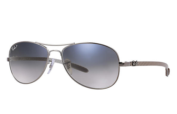 Ray-Ban  prescription sunglasses RB8301 MALE P019 rb8301 gunmetal RX_805289303954?roxLensPartNumber=Blue_Grey_Gradient_Polar_SV