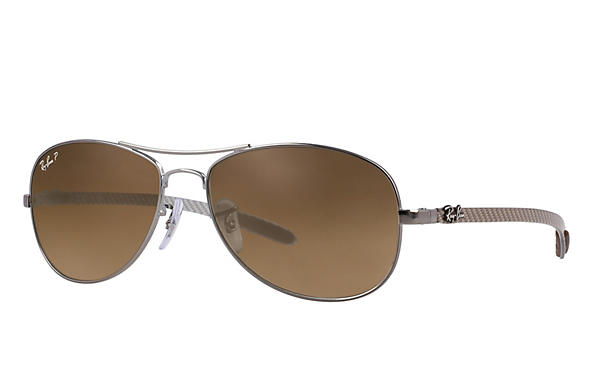 Ray-Ban  prescription sunglasses RB8301 MALE P019 rb8301 gunmetal RX_805289303954?roxLensPartNumber=Brown_Gradient_Polar_SV
