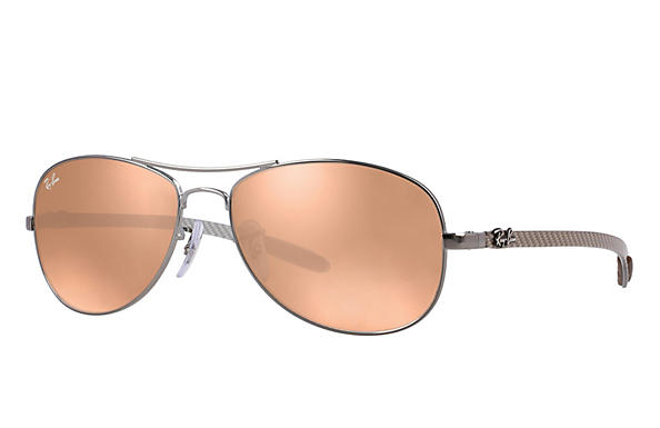 Ray-Ban  prescription sunglasses RB8301 MALE P019 rb8301 gunmetal RX_805289303954?roxLensPartNumber=Copper_Flash_SV