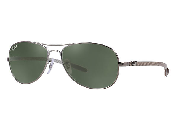 Ray-Ban  prescription sunglasses RB8301 MALE P019 rb8301 gunmetal RX_805289303954?roxLensPartNumber=Green_Classic_G 15_Polar_SV