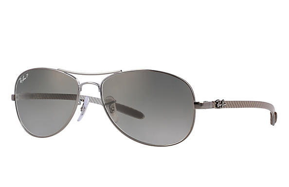Ray-Ban  prescription sunglasses RB8301 MALE P019 rb8301 gunmetal RX_805289303954?roxLensPartNumber=Grey_Gradient_Polar_SV