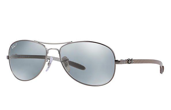 Ray-Ban  prescription sunglasses RB8301 MALE P019 rb8301 gunmetal RX_805289303954?roxLensPartNumber=Silver_Flash_Polar_SV