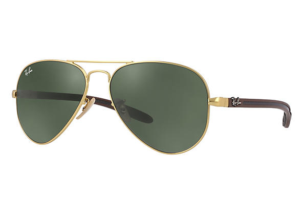 Ray-Ban 0RB8307-AVIATOR CARBON FIBRE Gold; Brown,Multicolor ROX_FRAME