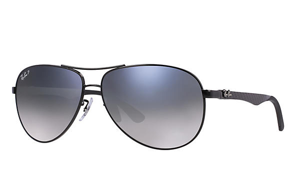 Ray-Ban  prescription sunglasses RB8313 MALE P011 rb8313 black RX_8053672346299?roxLensPartNumber=Blue_Grey_Gradient_Polar_SV