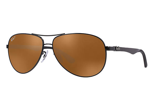 Ray-Ban  prescription sunglasses RB8313 MALE P011 rb8313 black RX_8053672346299?roxLensPartNumber=Brown_Classic_B 15_Polar_SV