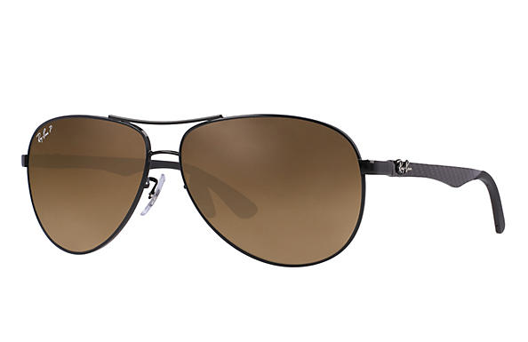 Ray-Ban  prescription sunglasses RB8313 MALE P011 rb8313 black RX_8053672346299?roxLensPartNumber=Brown_Gradient_Polar_SV