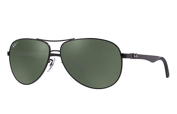 Ray-Ban  prescription sunglasses RB8313 MALE P011 rb8313 black RX_8053672346299?roxLensPartNumber=Green_Classic_G 15_Polar_SV