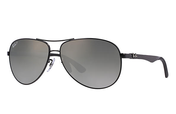 Ray-Ban  prescription sunglasses RB8313 MALE P011 rb8313 black RX_8053672346299?roxLensPartNumber=Grey_Gradient_Polar_SV