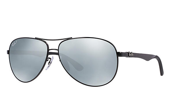 Ray-Ban  prescription sunglasses RB8313 MALE P011 rb8313 black RX_8053672346299?roxLensPartNumber=Silver_Flash_Polar_SV