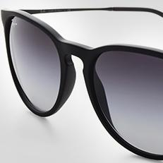 ray-ban erika black frame sunglasses