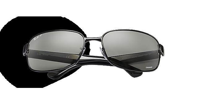 d839fb0c026 GREY LENSES. Ray-Ban RB3544 Chromance Black with Silver Mirror Chromance  lens