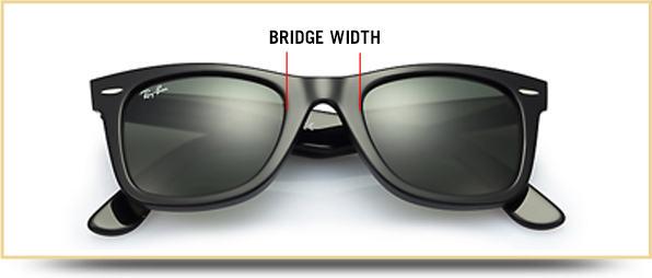 Ray-ban sunglasses bridge width