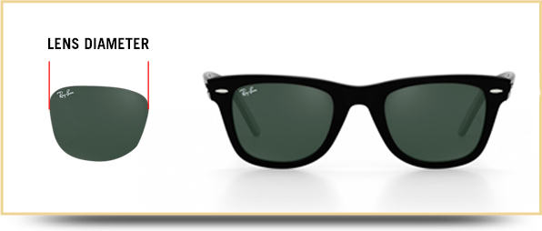 Ray-ban sunglasses lens diameter