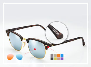 Ray-Ban Clubmaster custom sunglasses