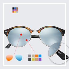 Ray-ban Clubround Custom sunglasses