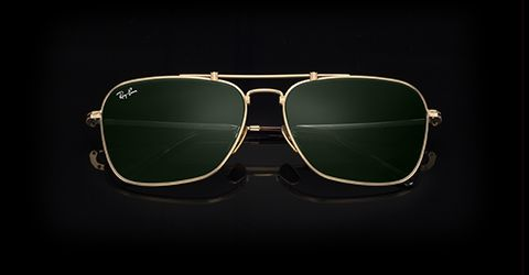 0278a99ee2 Ray-Ban CARAVAN TITANIUM White Gold with Green Classic lens
